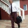 Leaving a workshop in The Gambia